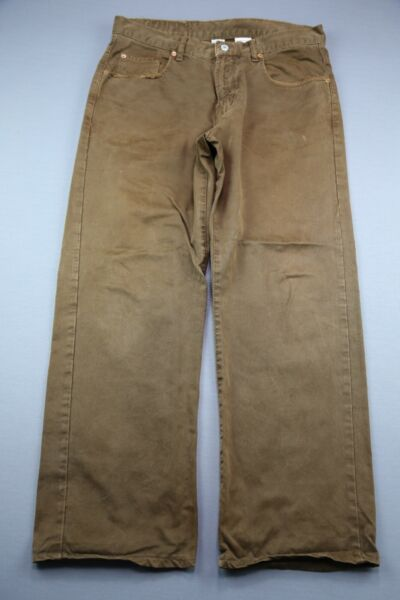 Vintage Men's Lucky Brand Jeans 165 Brown Low Rise Straight Size 32 (Meas 34x28)