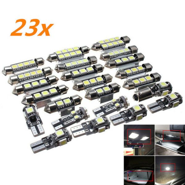 US 23PCS Canbus LED Car Interior Inside Lights Dome Trunk Map License Plate Lamp