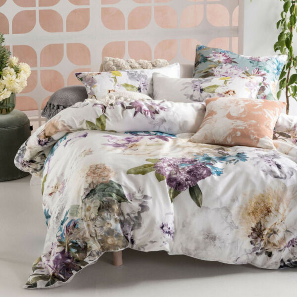 Linen House Lena Quilt Cover Set Botanical classic Sophisticated florals AU $204.95