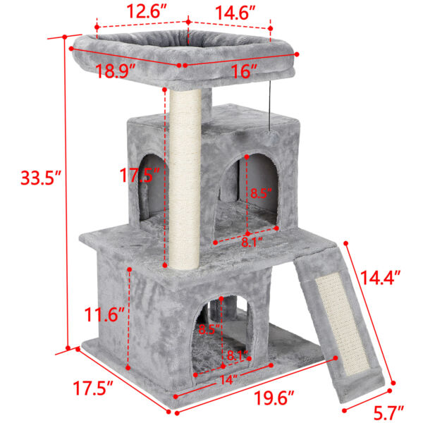 Cat tree Tower Great For Multiple Cats Scratcher Play House Condo Pet House 34quot; $42.99