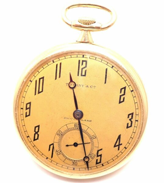 Vintage! Agassiz W & CO Made For Tiffany & Co 18k Yellow Gold 44mm Pocket Watch