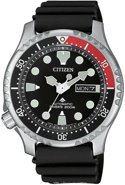 Citizen Automatic Promaster Steel  Rubber Divers Mens Watch NY0085-19E