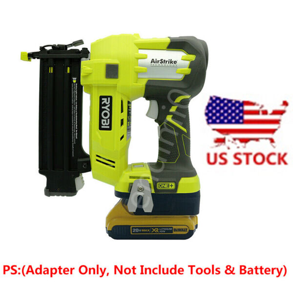1PCS DEWALT 20V Slider Lithium Battery to Ryobi 18V Tools Adapter (Adapter Only)