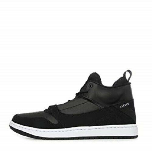 NIKE AIR JORDAN FADEAWAY MEN'S BLACK/WHITE BASKETBALL SHOES #AO1329-011