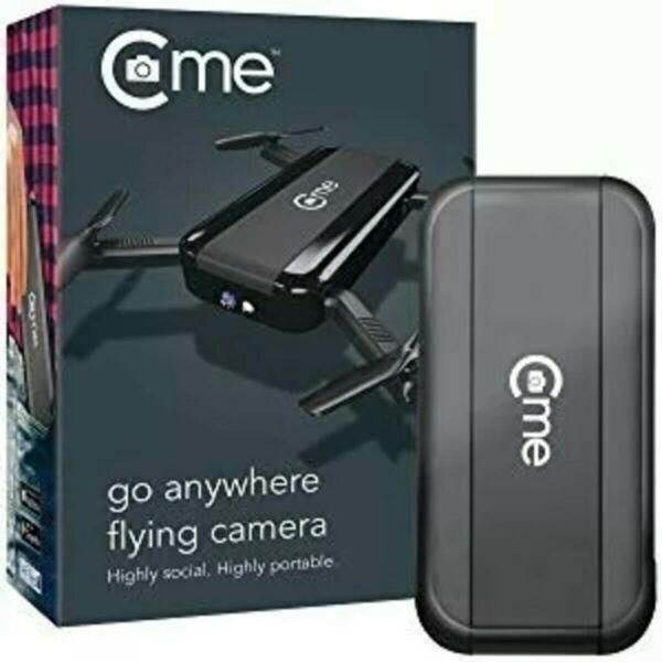 ✅*BRAND NEW* C-me - Selfie Drone - 8MP Go Anywhere Flying Camera Black