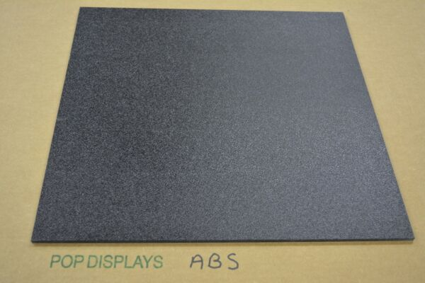 Abs Plastic Sheet 1 8quot; Black CHOOSE A SIZE