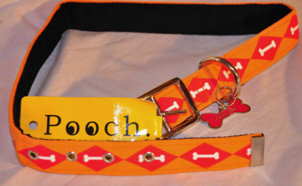 NWT! POOCH BRAND DOG COLLAR MEDIUM 15-19