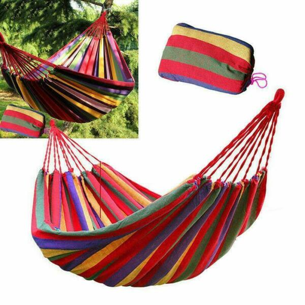 Outdoor 1 2 Person Ultralight Camping Hammock Portable Hammock for Backpack Yard $16.75