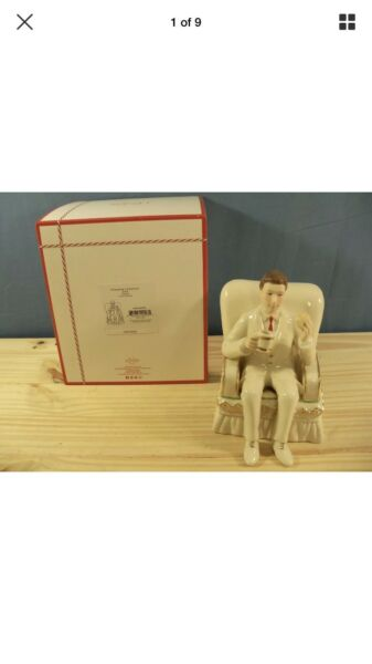 Lenox Fireplace Collection Dad Porcelain Figurine - Brand New in Box