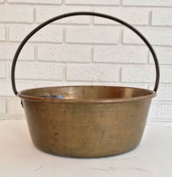 1970's Scottish Brass Pot Kettle Cooking Fireplace Scotland Vintage Gift
