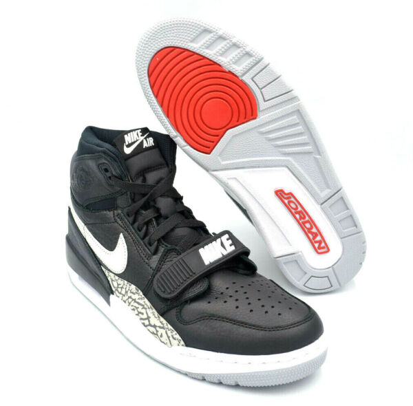 Nike Air Jordan Legacy 312 'Black Cement' Basketball [AV3922-001] Multi Size