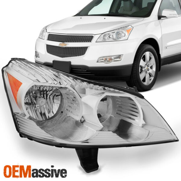 Fits 2009 2010 2011 2012 Chevy Traverse (RH) Passenger Side Headlight Front Lamp