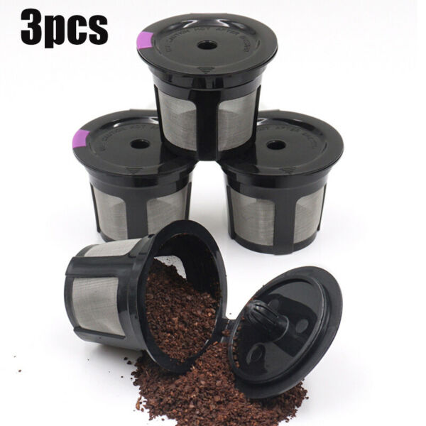 3 Pcs Reusable K Cups Refillable K Cup Coffee Filters For Keurig K45 K75 B60