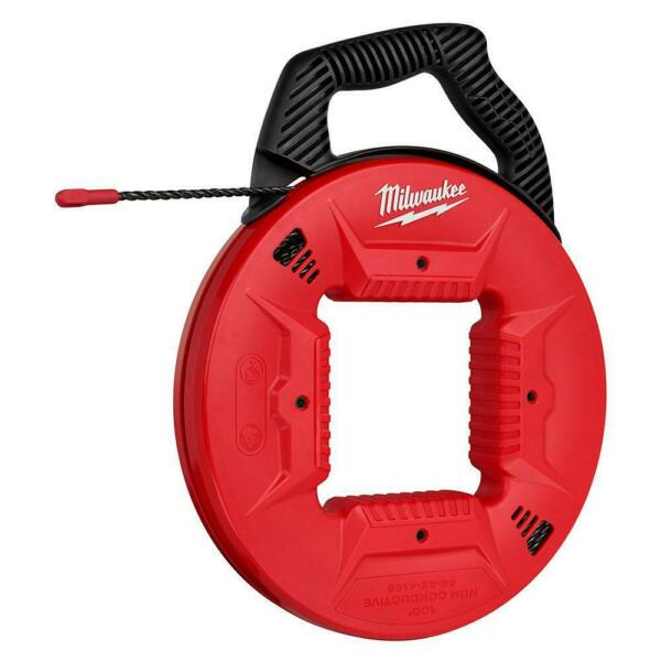 Milwaukee 48 22 4165 100 Feet Polyester Fish Tape Non conductive Tip $94.99