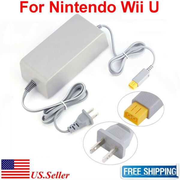 AC Adapter Power Supply Wall Charger Cord Cable Nintendo Wii U Console WUP-002