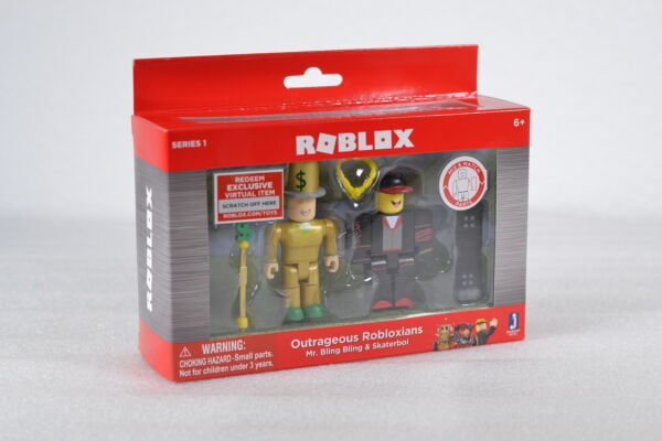 Roblox Outrageous Robloxians Mr. Bling & SkaterBoi With Virtual Code-Series 1