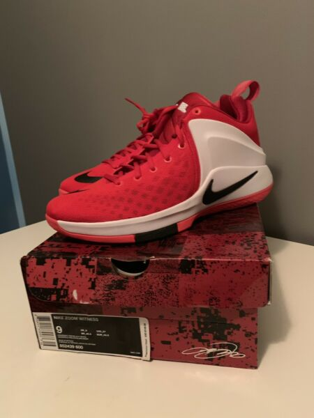 Men's Nike Zoom Witness Size 9 LeBron James Basketball Sneakers 852439-600 New