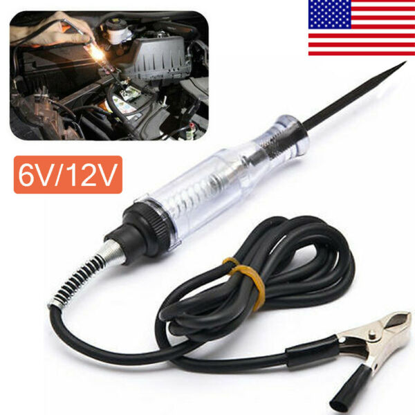 Car Voltage Circuit Tester For 6V12V DC System Probe Continuity Test Light US