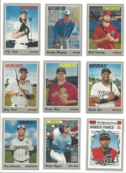 2019 TOPPS HERITAGE MINOR LEAGUE BASE -  PROSPECTS RC's -  WHO DO YOU NEED!!!!
