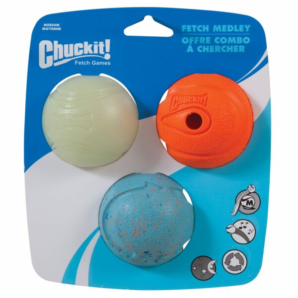 Chuckit! Fetch Medley Ball Set Dog Toys Medium