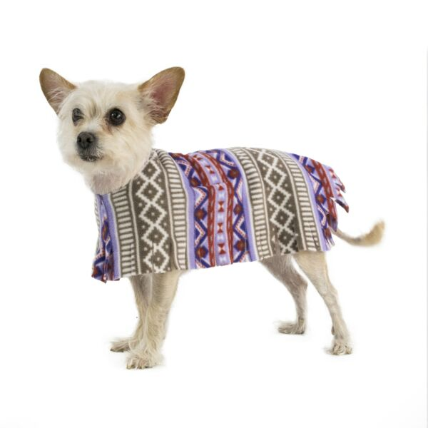 Pooch-O Fleece Aztec Purple Dog Poncho $11.99