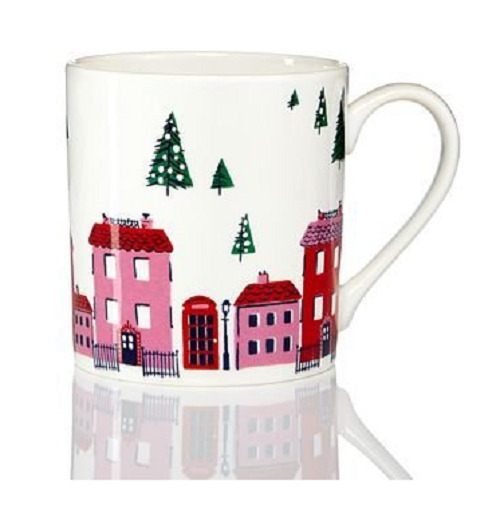 Kate Spade New York Arbor Village Mug sku#869284 12 oz. new in box christmas mug