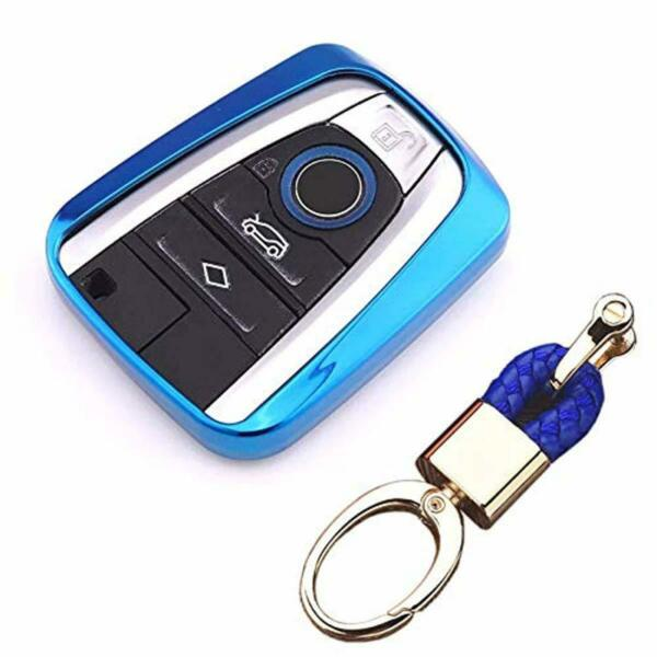 Royalfox(TM Luxury Soft TPU Smart 4 Buttons Key Fob case Cover for BMW i3 i8 201