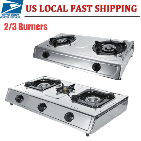 Stainless Steel 23 Furnaces Gas Stove Burner Home Kitchen Cooktop Cooking