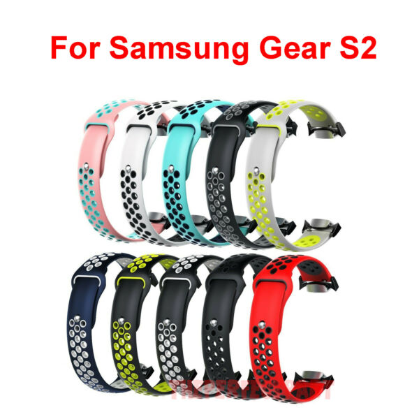 Silicone Sports Watch Band For Samsung Gear S2 SM-R720  SM-R730 With Adapter