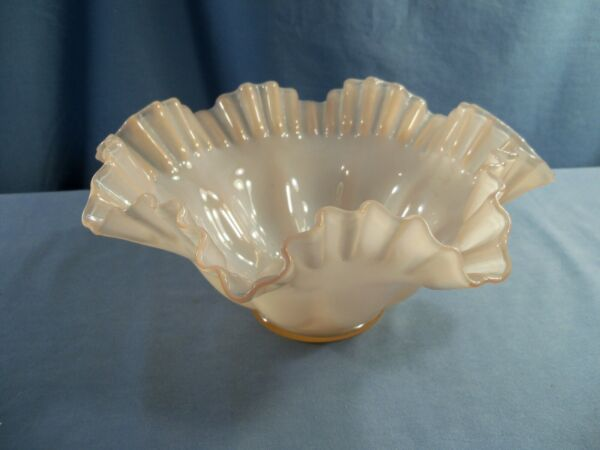 Fenton Pink Overlay Glass Bowl 10quot; Wide #2
