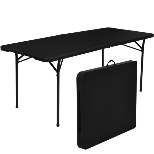 Folding Table 6#x27; Portable Plastic Indoor Outdoor Camp Picnic Party Dining Table