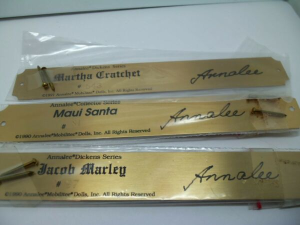 ANNALEE Brass Plaques Set of 3