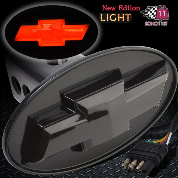 Chevy Hitch Cover Licensed LED Light Trailer Tow Receiver Silverado Trucks $33.99