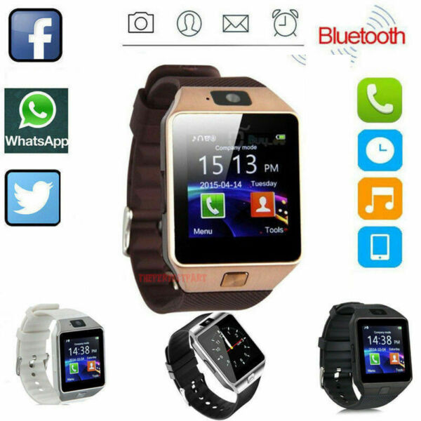 Bluetooth Smart Watch w Camera Waterproof Phone For  iPhone iOS Android Samsung