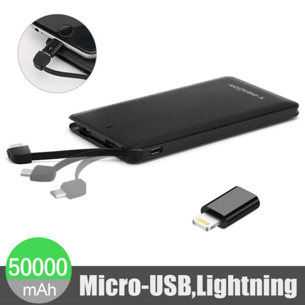 Ultra Thin 10000mAh Portable External Battery Charger Power Bank for Phone USA