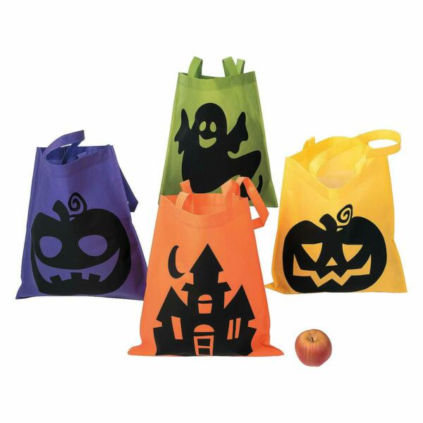 Fun Express Iconic Halloween Totes for Halloween ~Trick or Treat Bags~ 1 DOZEN