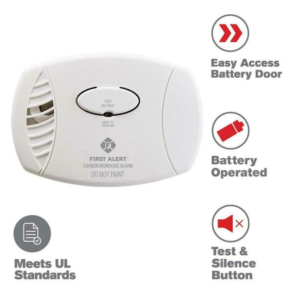 First Alert Carbon Monoxide Detector No Outlet Required 1 pack White $24.99