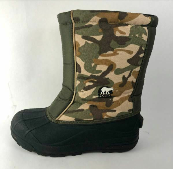 Sorel Women's Snow Command Boot GreenBrown Camoflauge Size 6 M US