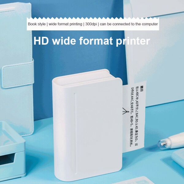 Wireless Printer Pocket Bluetooth Thermal Picture Photo Print for Phone Laptop