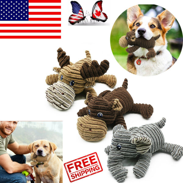 For Dog Cat Play Funny Pet Puppy Chew Squeaker Squeaky Plush Sound Training Toys