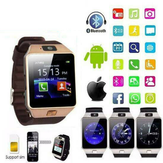 DZ09 Bluetooth Smart Watch Camera Phone GSM SIM For Android Samsung iPhone IOS☆