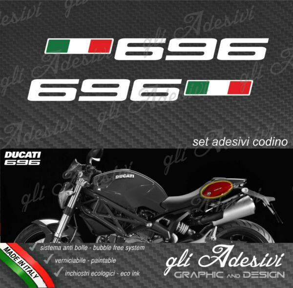 2 Stickers Ducati Monster for Seat Unit 696 $9.64