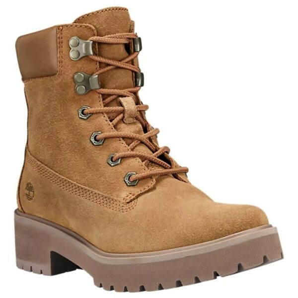 TIMBERLAND WOMEN#x27;S CARNABY COOL 6quot; INCH WINTER BOOTS RUST SUEDE BROWN A1UPW $84.59