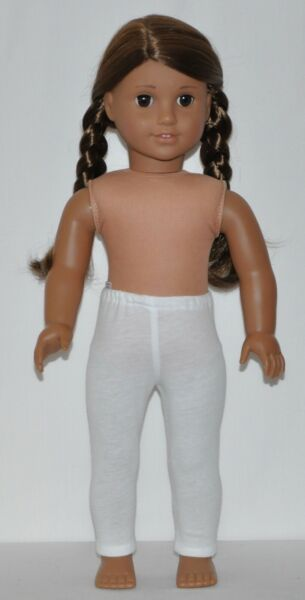 "White Leggins Fits 18"" American Girl Doll Clothes"