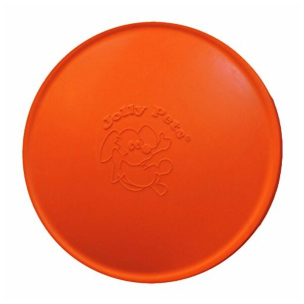Jolly Pets Flyer Natural Rubber Floating Disc for Dogs Orange 7.5 inch $9.80