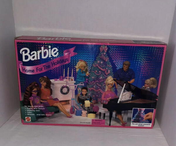 1994 BARBIE HOME FOR THE HOLIDAYS CHRISTMAS PLAYSET-NRFB