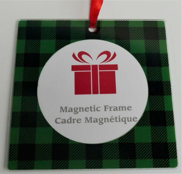 New Square Magnetic Photo Picture Frame Ornament Fit 2.25