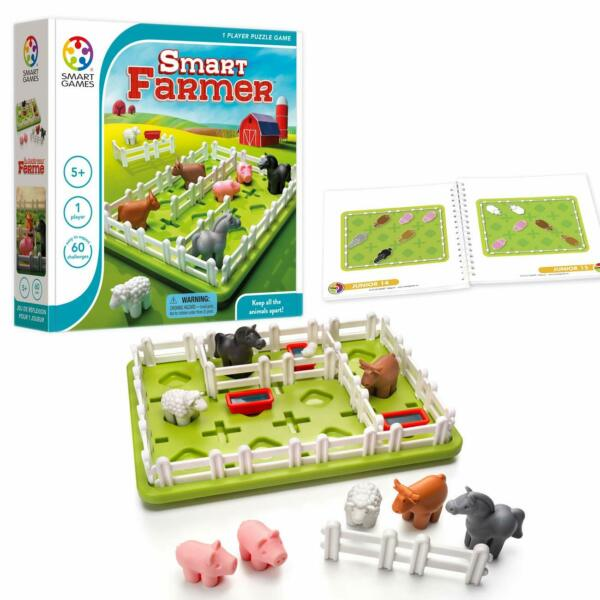 SmartGames Smart Farmer Board Game for Ages 5 and Up