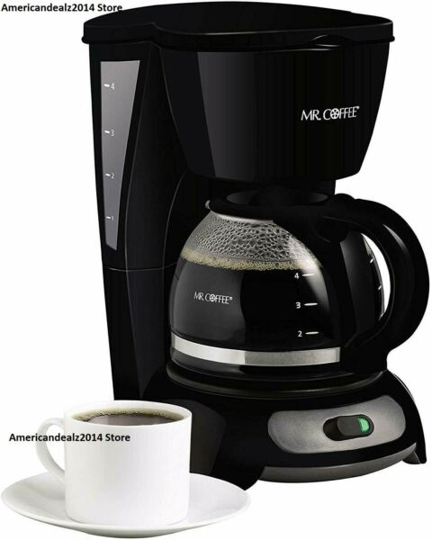 Mr. Coffee 4-Cup Switch Coffee Maker - Black TF5 - FREE EXPEDITED SHIPPING