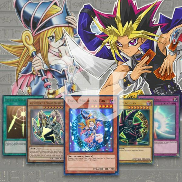 YUGI#x27;s POWERFUL Deck from BATTLE CITY 41 CARDS RED DARK MAGICIAN GIRL YuGiOh